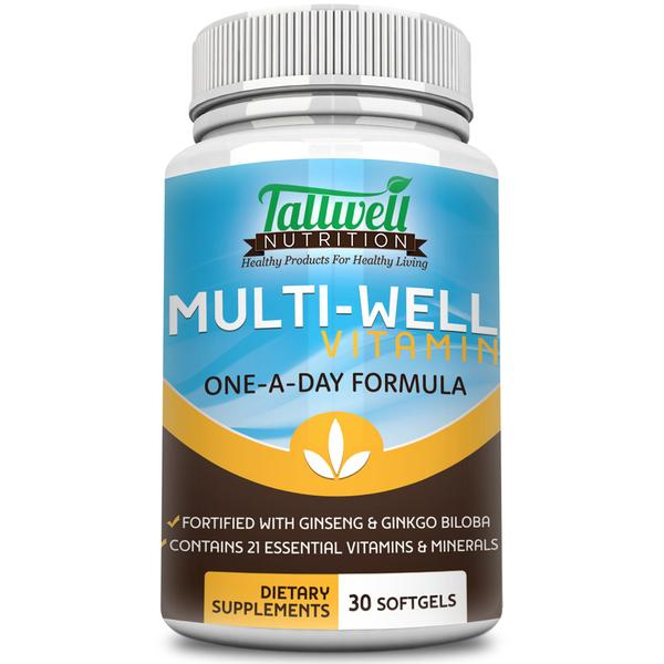 Best Multivitamin for Men & Women - Ginseng, Ginkgo Biloba